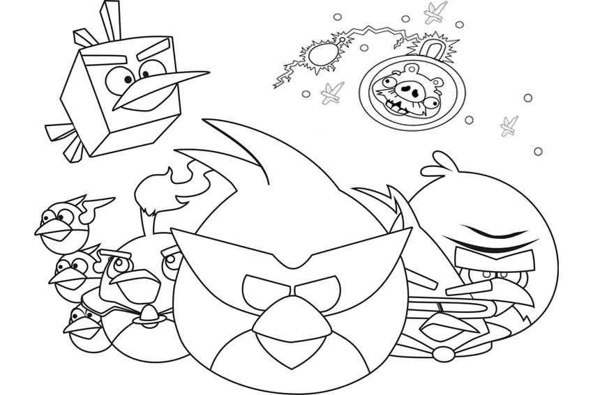 Kleurplaten Van Angry Birds.Kleurplaat Angry Birds Space Ideeen Over Kleurpagina S Voor Kinderen