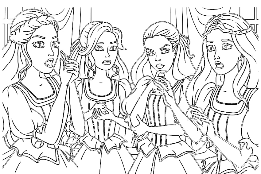 Doll Coloring Pages For Girls Coloring Coloring Pages