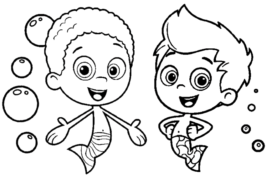 bubble guppies coloring pages 001