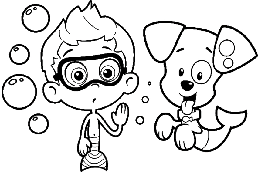 Bubble guppies coloring pages overview with great sheets for Bubble guppies coloring pages