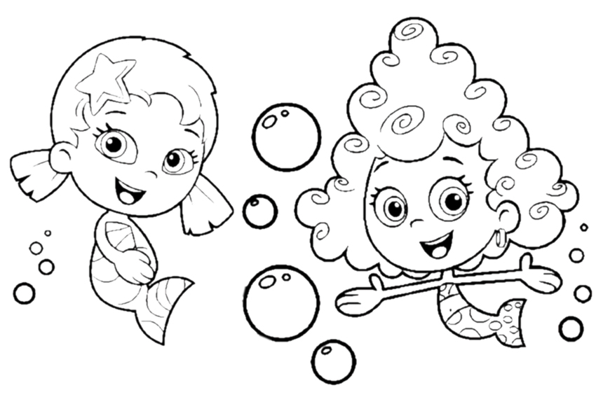 bubble guppies coloring pages 003 bubble guppies coloring pages 004