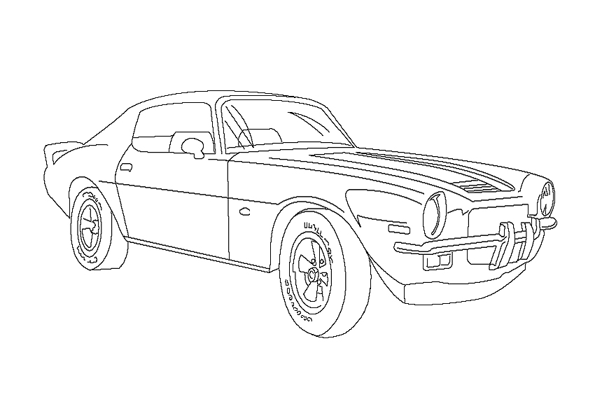 a very nice car this camaro coloring page