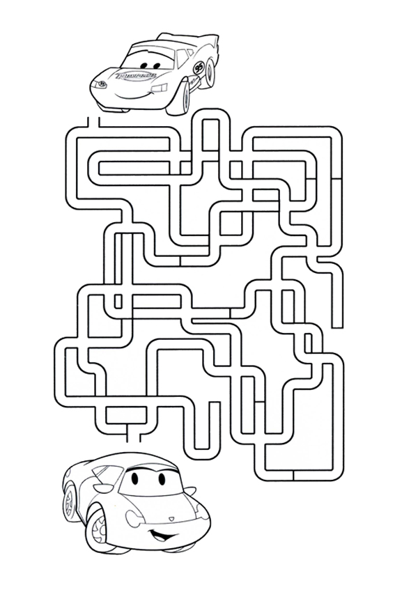 funny and instructive kids cars games like puzzles and mazes