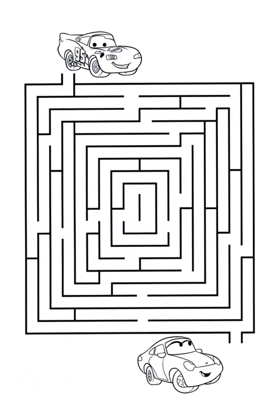Coloring pages of cars the movie