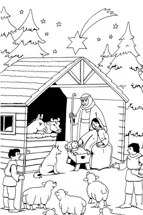 presents coloring page pooh decorating the christmas tree decorated christmas tree christmas stable