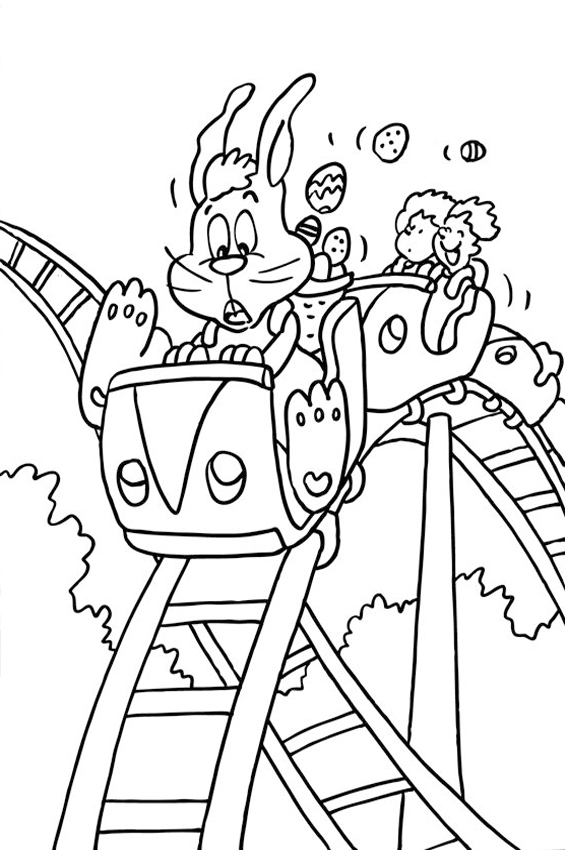 rollercoaster bunny elmo wishes you a happy easter easter coloring pages