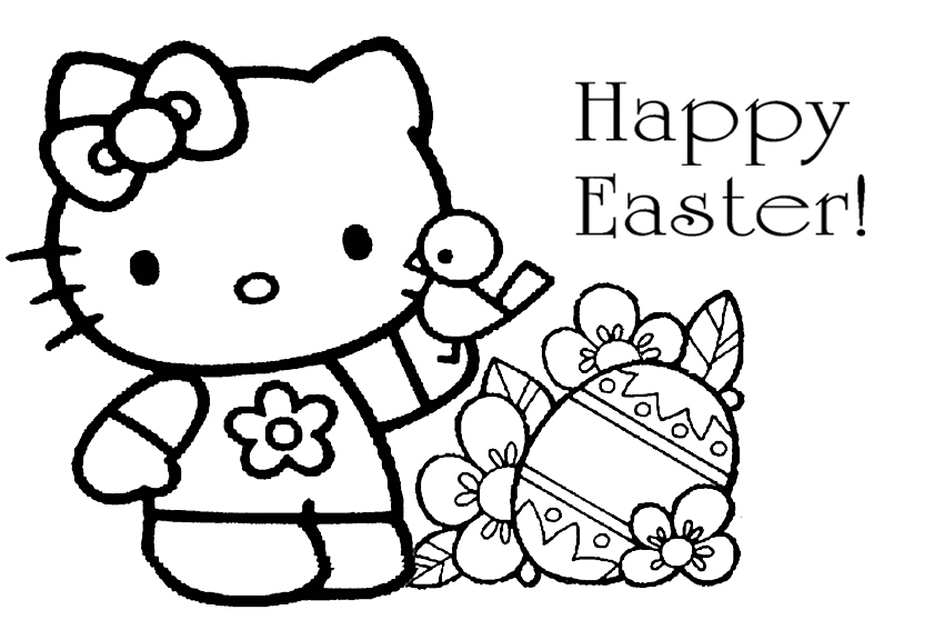 Easter Coloring Pages To Color In On A Rainy Sunday