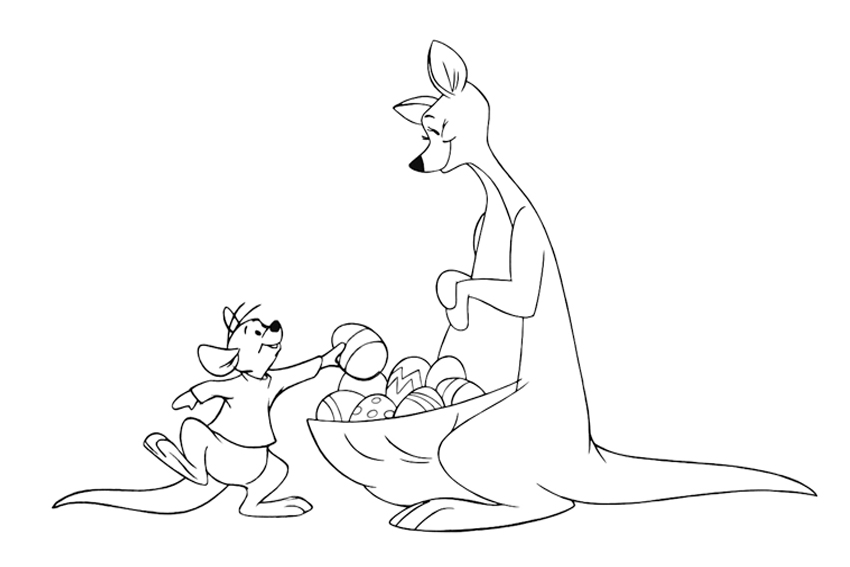 Colouring Picture Kangaroo Easter Coloring Pages To Color In On A Rainy Sunday