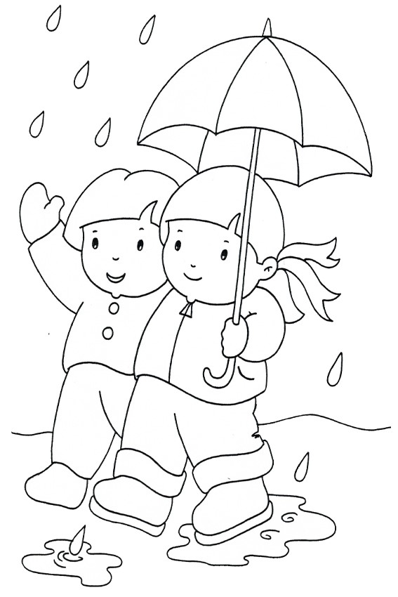 Autumn coloring pages to color in when its wet outside