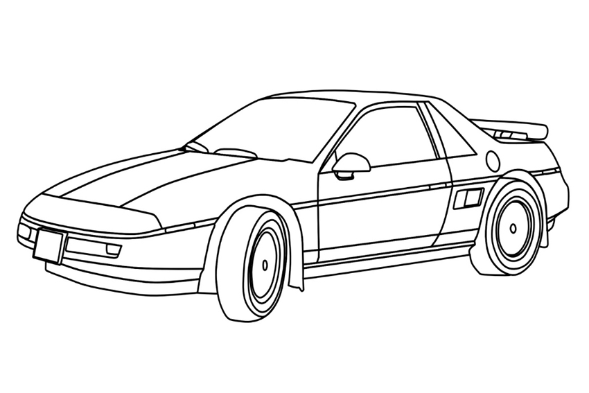 fast and furious coloring pages free coloring pages of veilside mazda - Fast Furious Coloring Pages