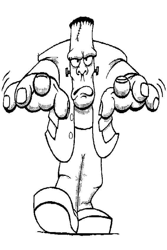 frankenstien coloring pages - photo#11