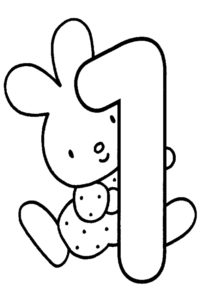 First Birthday coloring page