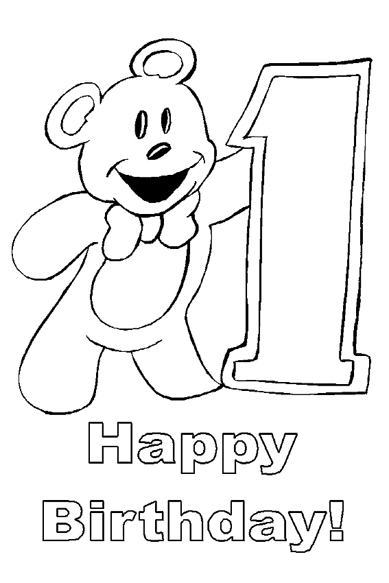 Colouring Pages H Y Birthday : Happy birthday coloring pages to color in on your birthday