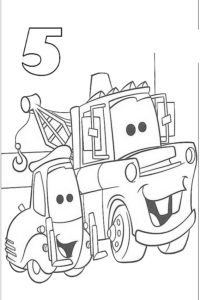 Cars coloring page for your birthday
