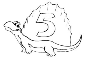 5th birthday coloring page