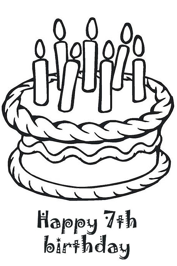 7th birthday coloring sheet 7th birthday happy 7th birthday
