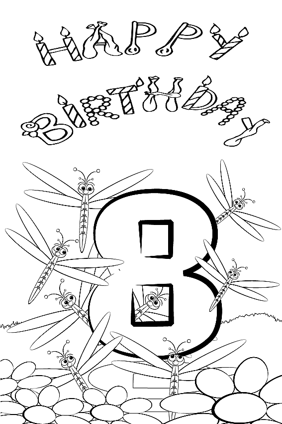 Happy Birthday coloring pages to