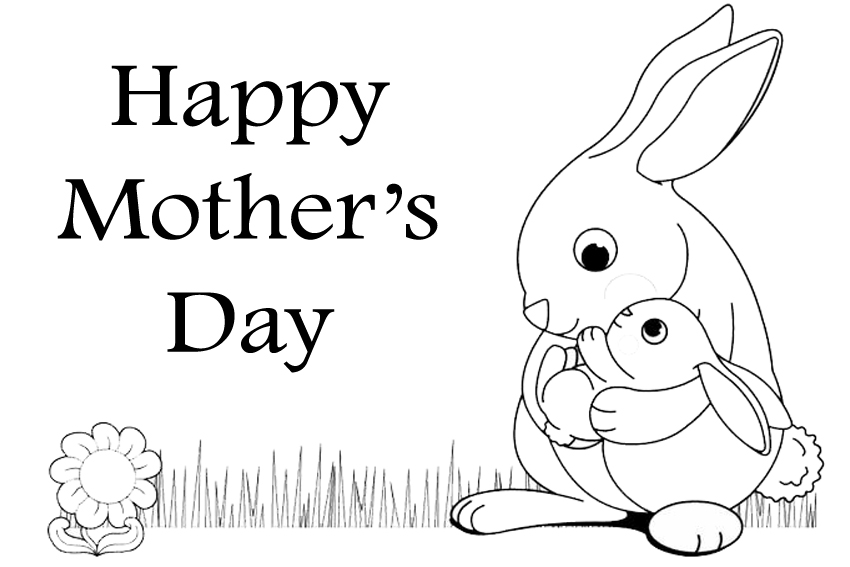 Mothers Day Coloring Pages Happy