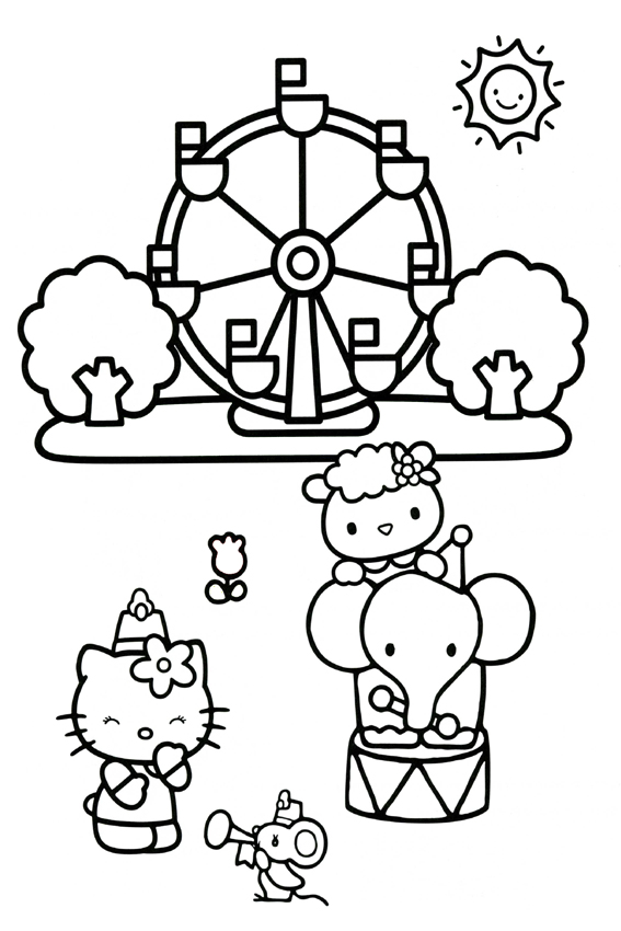 hello kitty coloring pages hello kitty coloring page at the circus