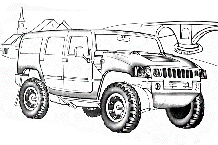 coloring page of a chevy very fast car will you color this ferrari in red hummer