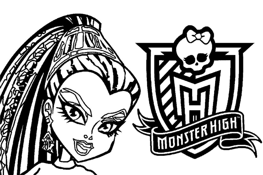 monster high coloring pages 001