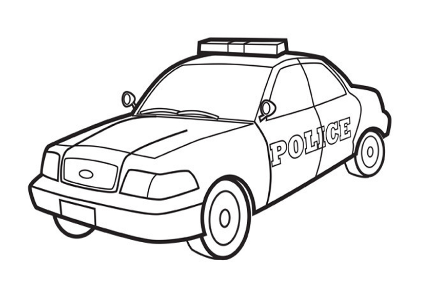 great cars from different times police car coloring page