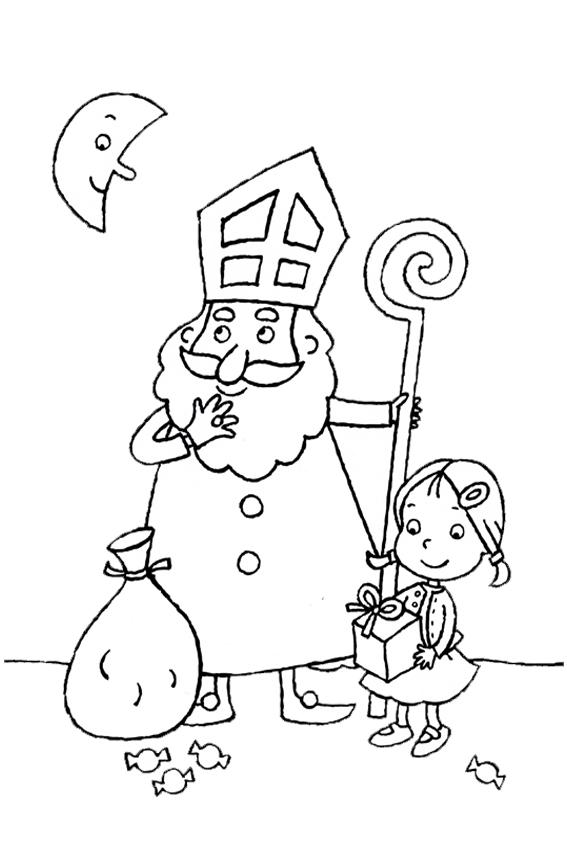 Sinterklaas kleurplaten om te kleuren en aan Sint te geven