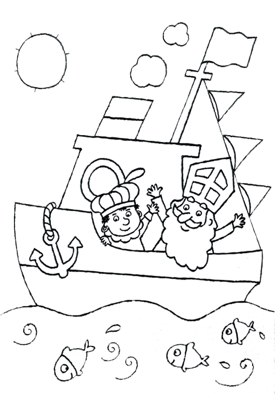 sinterklaas coloring pages - photo#28