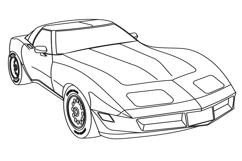 sportscar coloring page