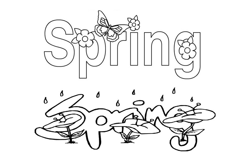 Spring coloring pages to avoid the start of the spring for Coloring pages spring break