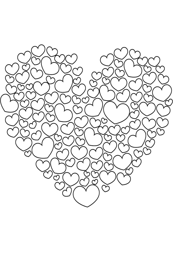 valentine coloring pages 013 - All Colouring Pages