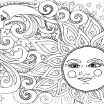 Adult Coloring Pages Sun And Moon Page