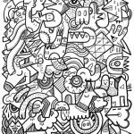 Artistic coloring page for adults