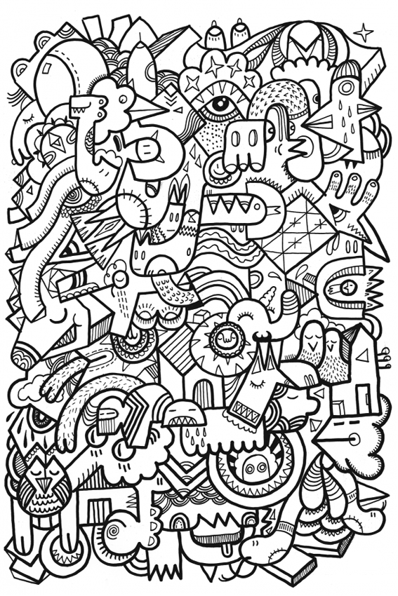 Coloring Pages For Adults To Keep Them Busy When Kids Are