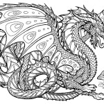 Dragon art coloring page