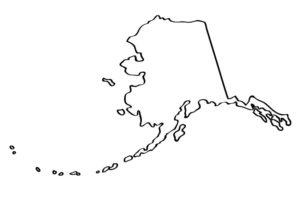 Alaska coloring map