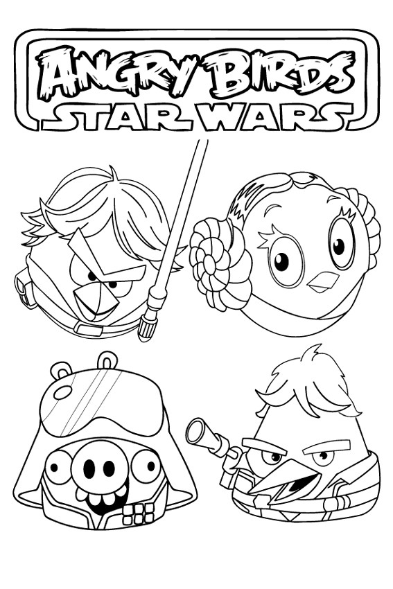 Kleurplaten Angry Birds Epic.Angry Birds Star Wars Angry Birds Star Wars Coloring Page Unique