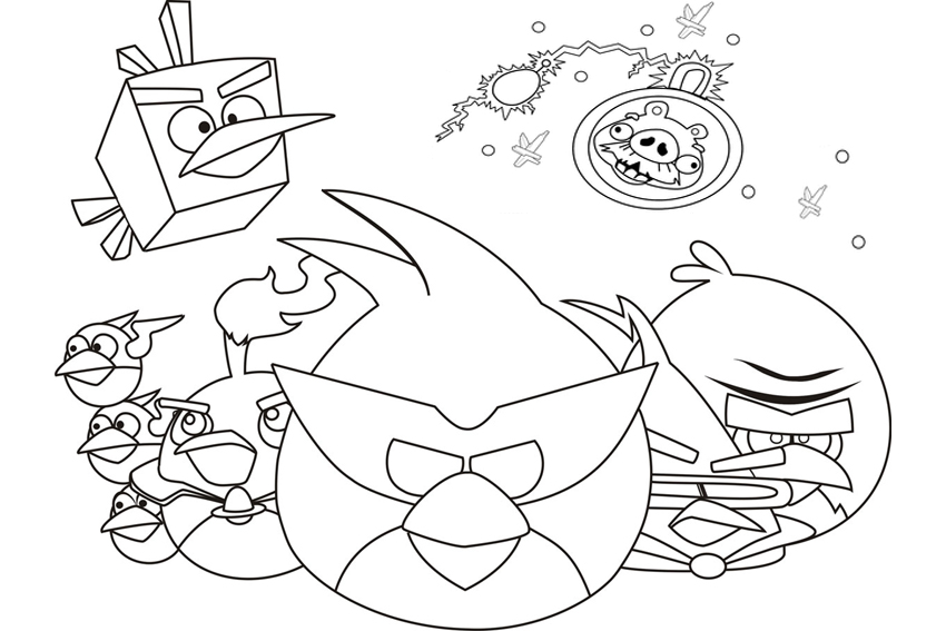 Angry Birds Halloween Kleurplaten.Angry Birds Coloring Pages Overview With Crazy Cool Birds