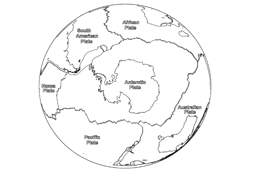 The South Of Earth Antarctica Coloring Pages