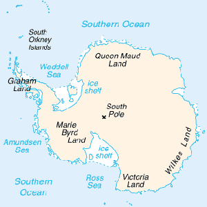 Map of Antartica