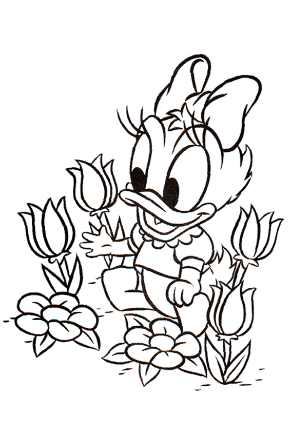 Daisy Duck coloring pages overview
