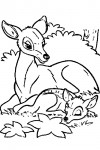 Bambi coloring page