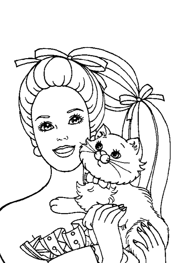 Barbie coloring pages overview