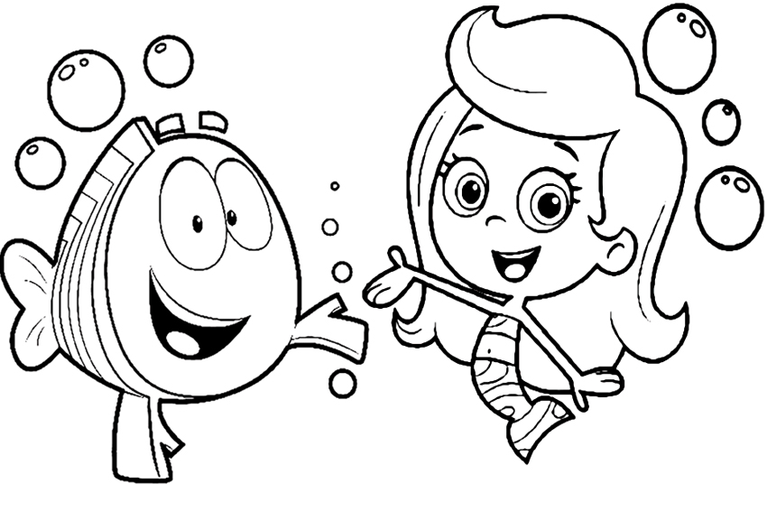 Bubble Guppies Coloring Pages Overview With Great Sheets