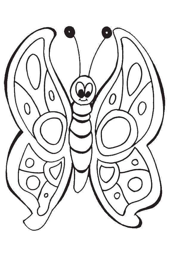 color in this butterfly - Butterfly Coloring Pages