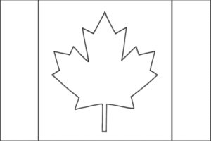 Canadians flag coloring page