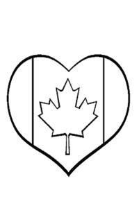 Flag maple leaf coloring sheet