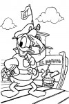 Donald Duck as a captain