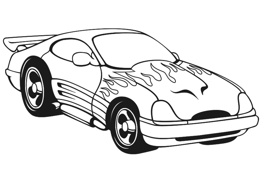 Coloring Pages Of Cars on back to the future car 3