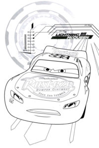 McQueen coloring sheet